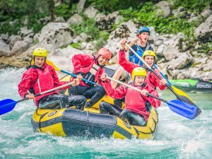 Rafting on Soca Slovenia