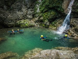 Susec canyoning in Slovenia