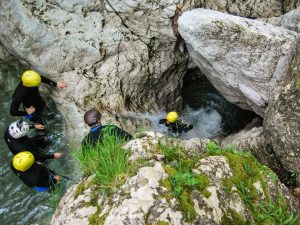 Soca valley canyoning Slovenia